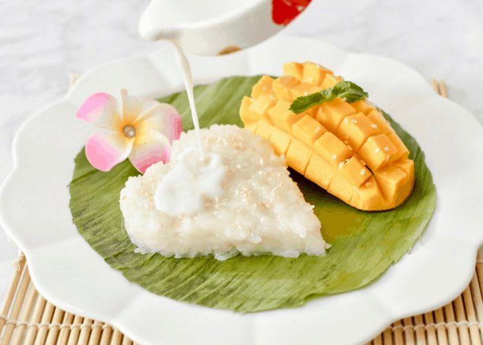 Mango sticky rice - ເຂົ້າຫນຽວຫມາກມ່ວງ   Jenuine Cuisine